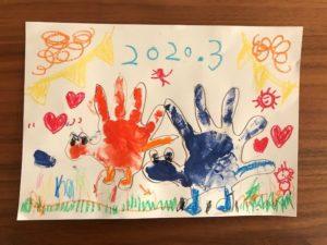 恐竜の手形アート